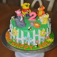 Pooh Bear And Friends Pooh and Friends birthday cake for my granddaughter's 2nd Birthday