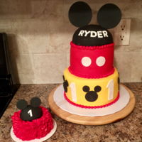 Quick & Easy Mickey I made that Mickey cake for a friend's son's first birthday. It was a very busy week so I just wanted to make something that...