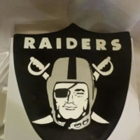Raider's Logo Cake Free hand painted cake made for another Die hard Raiders fan.