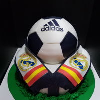 Real Madrid Cake Real Madrid Cake for my son on his 10th birthday!
