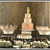 Romantic Wedding Cake 3 tier buttercream wedding cake with rosettes