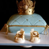 Royal Baby Blue Baby Shower Gluten free lemon cake made for a royal prince to be.