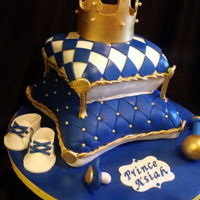 Royal Baby Shower Cake Another royal baby shower cake in royal blue. Cakes were my chocolate turtle tantrum all baby items were made with gumpaster