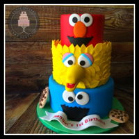 Sesame Street Birthday Cake I made this cake for my nephew´s first birthday. 3 Tier chocolate cake filled with dulce de leche.