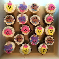 Shopkins Cupcakes Shopkins decorated cupcakes