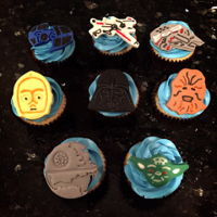 Star Wars Cupcakes For Kids Birthday Fondant