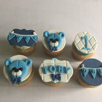 Teddy Bear Cupcakes Fondant cupcake toppers