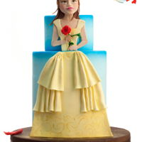 The Beauty Cake This is my personal version of Belle , a mix of 3d and 2d modelling.