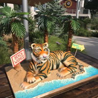 Tiger Tails Over the past few days, I've had the privilege of creating this amazing cake for the retiring president of Riverbanks Zoo. I always...