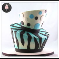 Topsy Turvy Cake 2 tier topsy turvy cake. All airbrushed buttercream