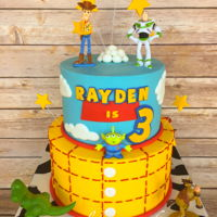 Toy Story Birthday Cake 2 Tier Toy Story Birthday Cake