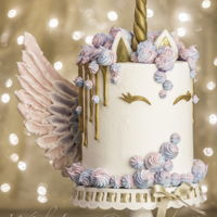 Unicorn Cake With Meringue Wings (By Veronica Arthur With Love & Confection) My famous Unicorn Cake with Meringue Wings! This my unique version of the ever so popular Unicorn cake with meringue kisses and meringue...