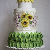 Vote For Me! New Technique! Real Edible Ribbon Embroidery On Edible Fabric By Veronica Arthur PLEASE VOTE FOR MY CAKE! Scroll to the bottom on my profile and click on link to the contest! The middle tier features my new technique-...
