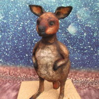 Wally The Wallaby Wally the Wallaby I did made it myself but I made it during a try out workshop by Nathasja Flapper from Flappergasted Cakes in the...