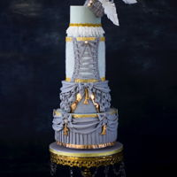 "Wedding Cake Inspired By ""barbie"" Fashion Collaboration My Inspiration for this collaboration was Marie Antoinette. It has been my long time I wish to make a Victorian style cake. Looking at the..."