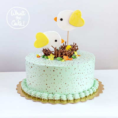 Bird's Nest This is one of my favorite cakes. I had so much fun doing this one because I got to pick the colours :)
