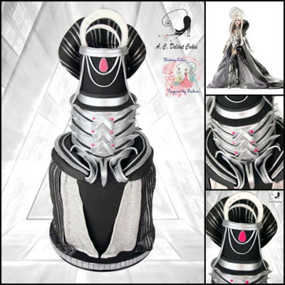 Black And Silver Into The Future - Wedding Cakes Inspired By Fashion A Worldwide Collaboration