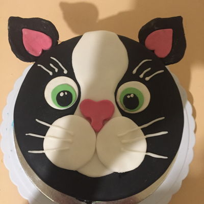 Cat Cake Caramel mud cake