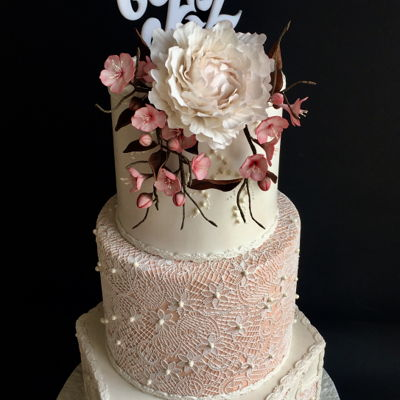 Cherry Blossom Wedding Cake Loved making this one