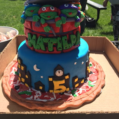 Ninja Turtles Cake Thank you white crafty cakes for this fabulous cake idea, my daughter adored it!