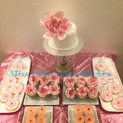 Pink & Gold Theme Dessert Party
