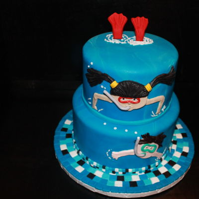 Pool Party swimming pool cake