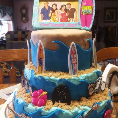 Teen Beach Movie Brown sugar sand and fondant waves.