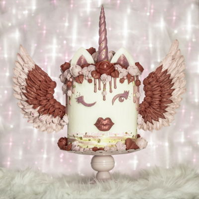 Valentine Unicorn Cake With Meringue Wings By Veronica Arthur | With Love & Confection