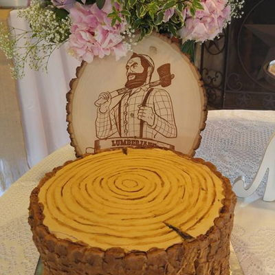 Wood Stump Groom's Cake