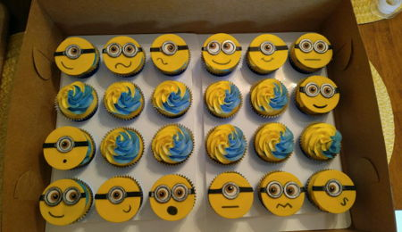 Minion Themed Cupcakes