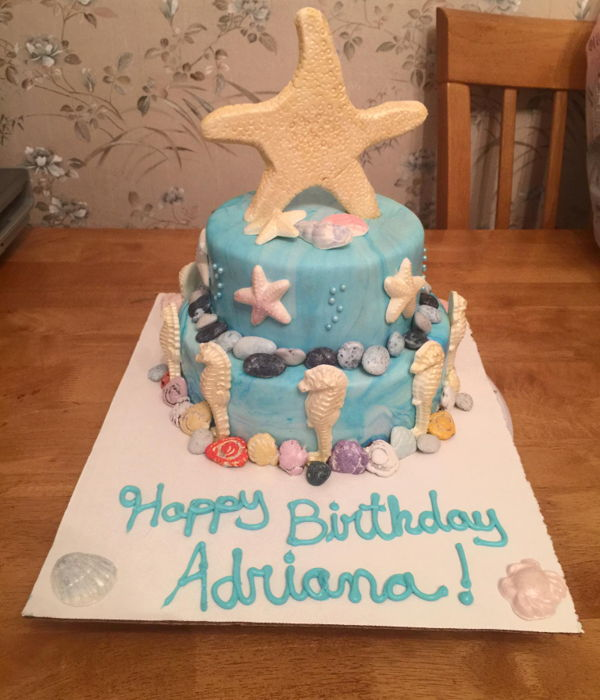 By The Sea Birthday Cake