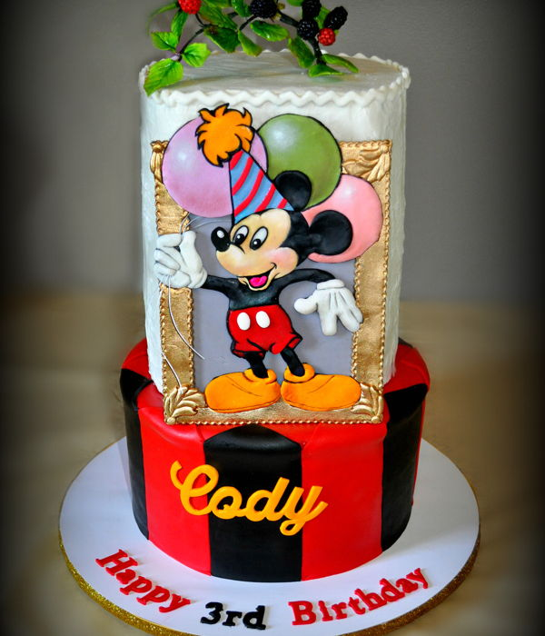 Cody's Mickey Mouse Birthday Cake