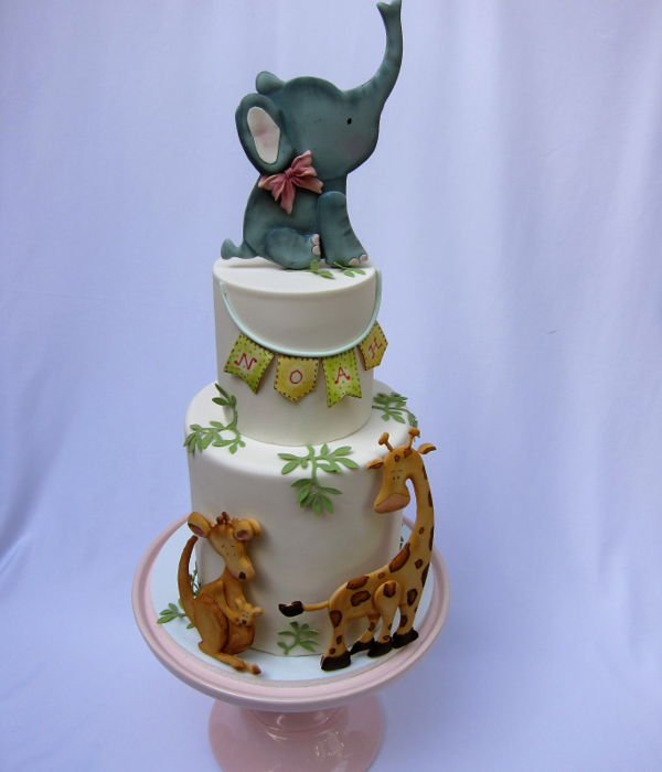 Elephant/safari Cake