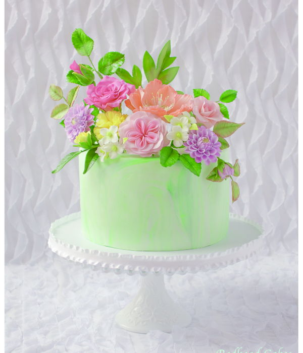 Flower Cake For 70Th Birthday