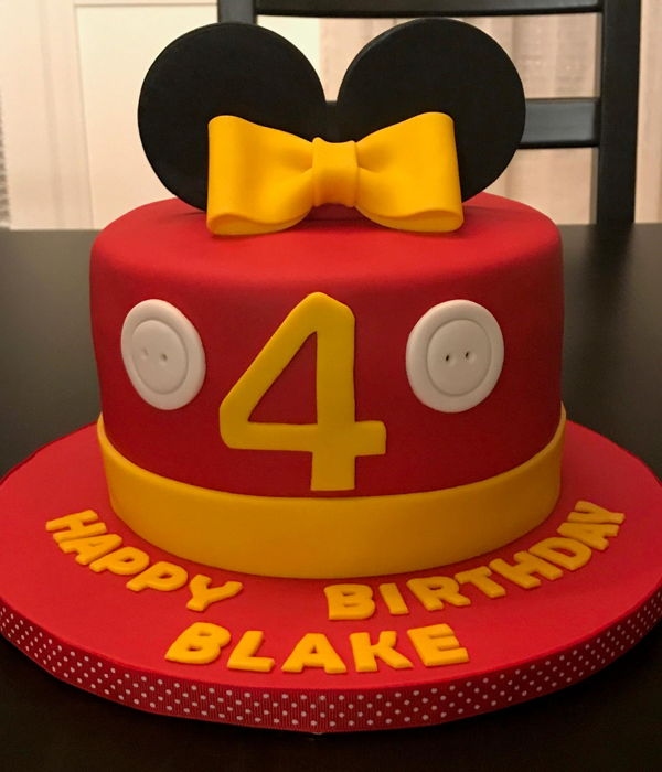 Mickey And Minnie Birthday Cakes