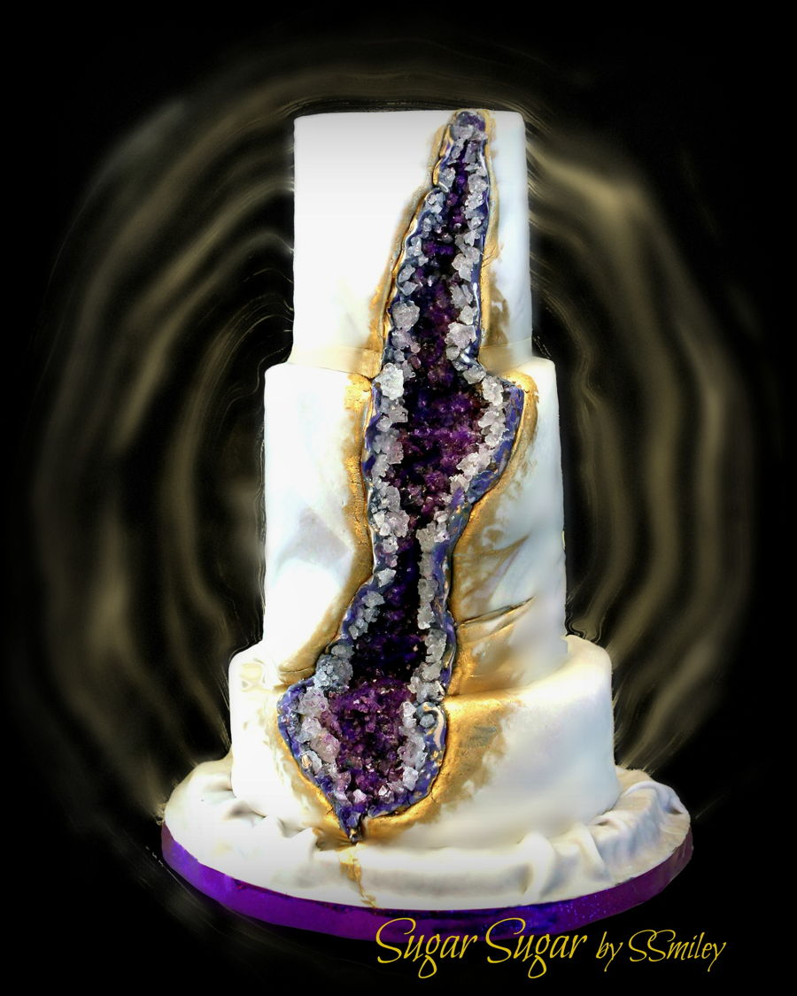 50th Anniversary Geode Cake Cakecentral Com