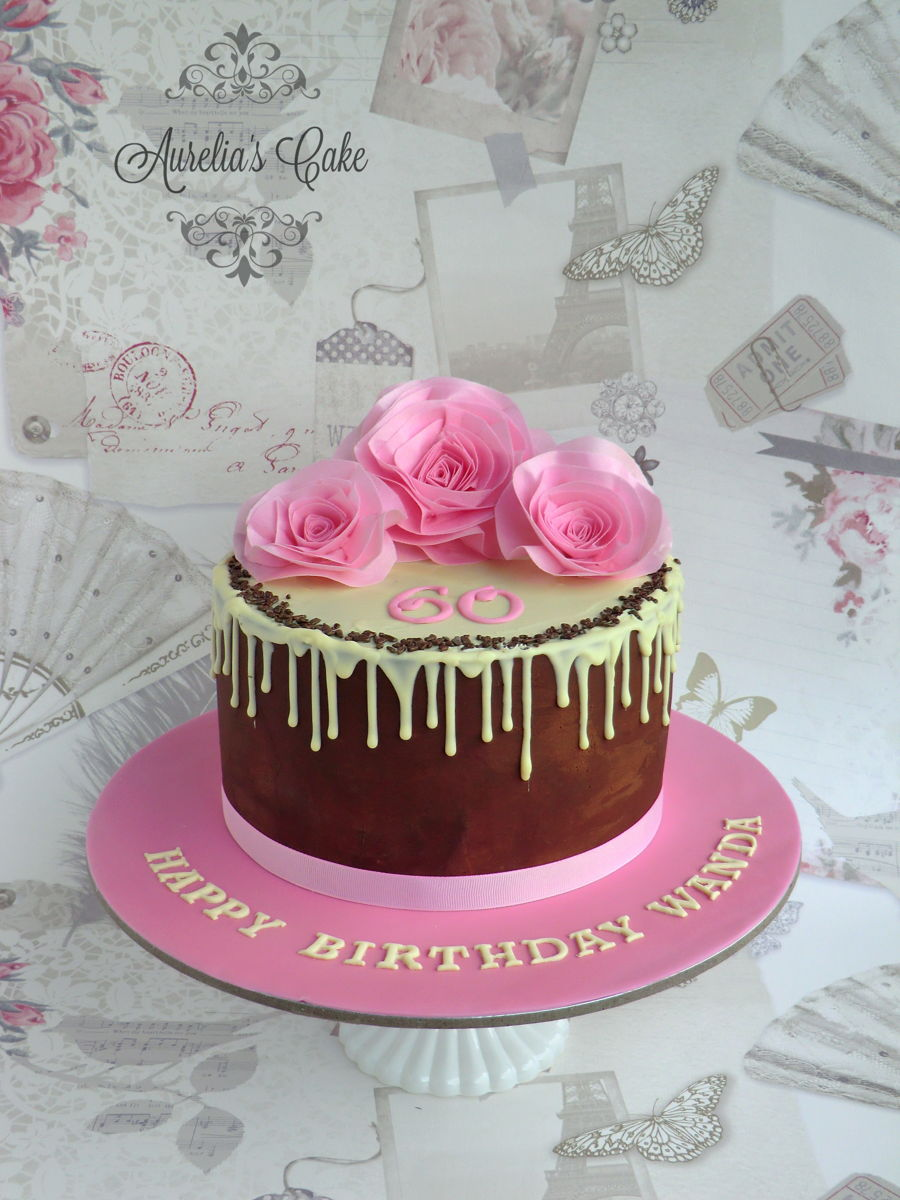 60th Birthday Drip Cake Cakecentral Com