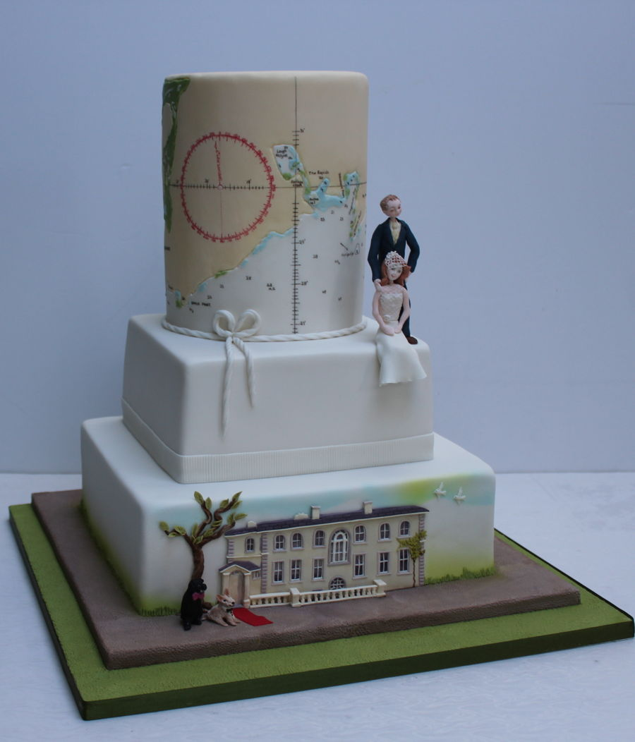 Admiralty Chart on Cake Central