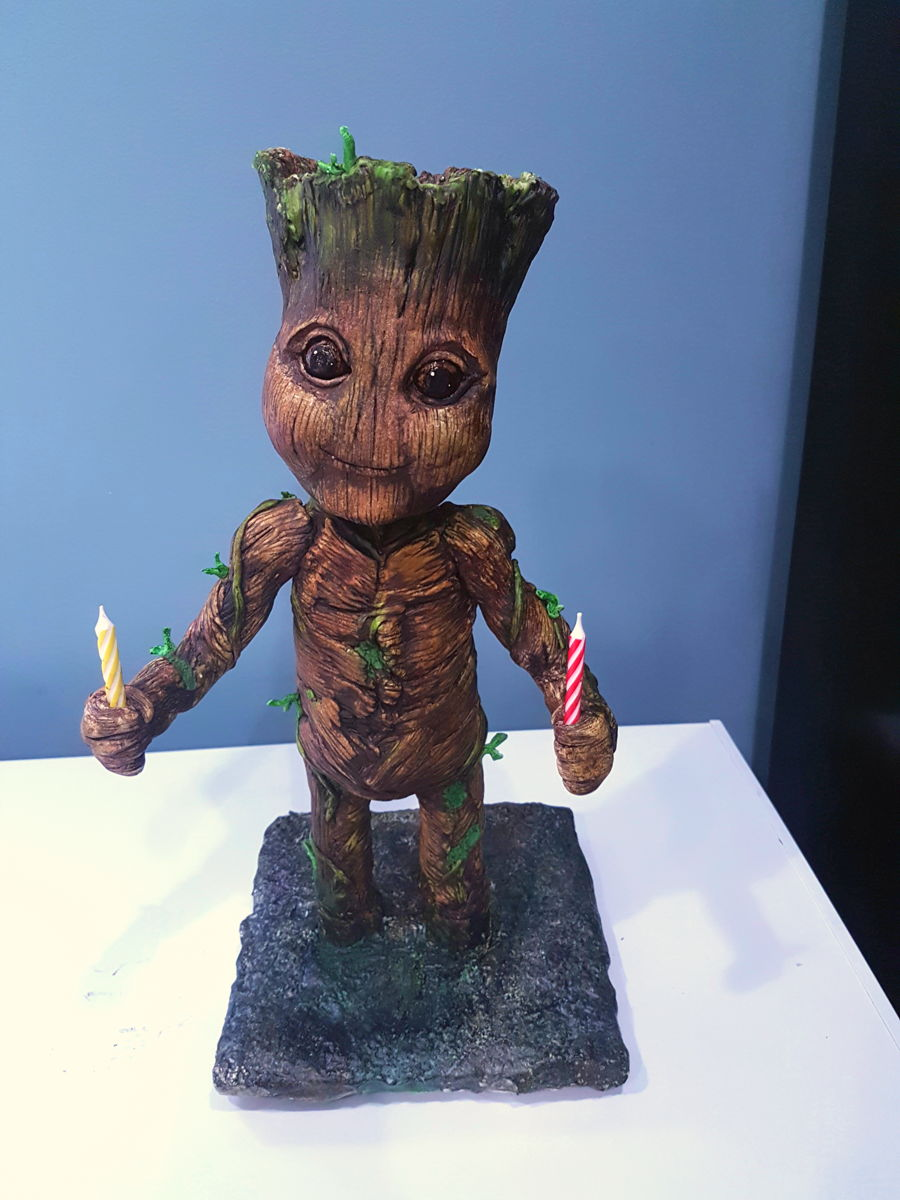 Baby Groot 3D Cake on Cake Central