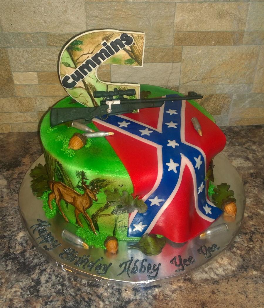Rebel Flag Cake Decorations