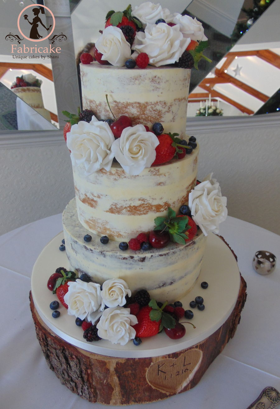 Dirty Iced Wedding Cake Cakecentral Com