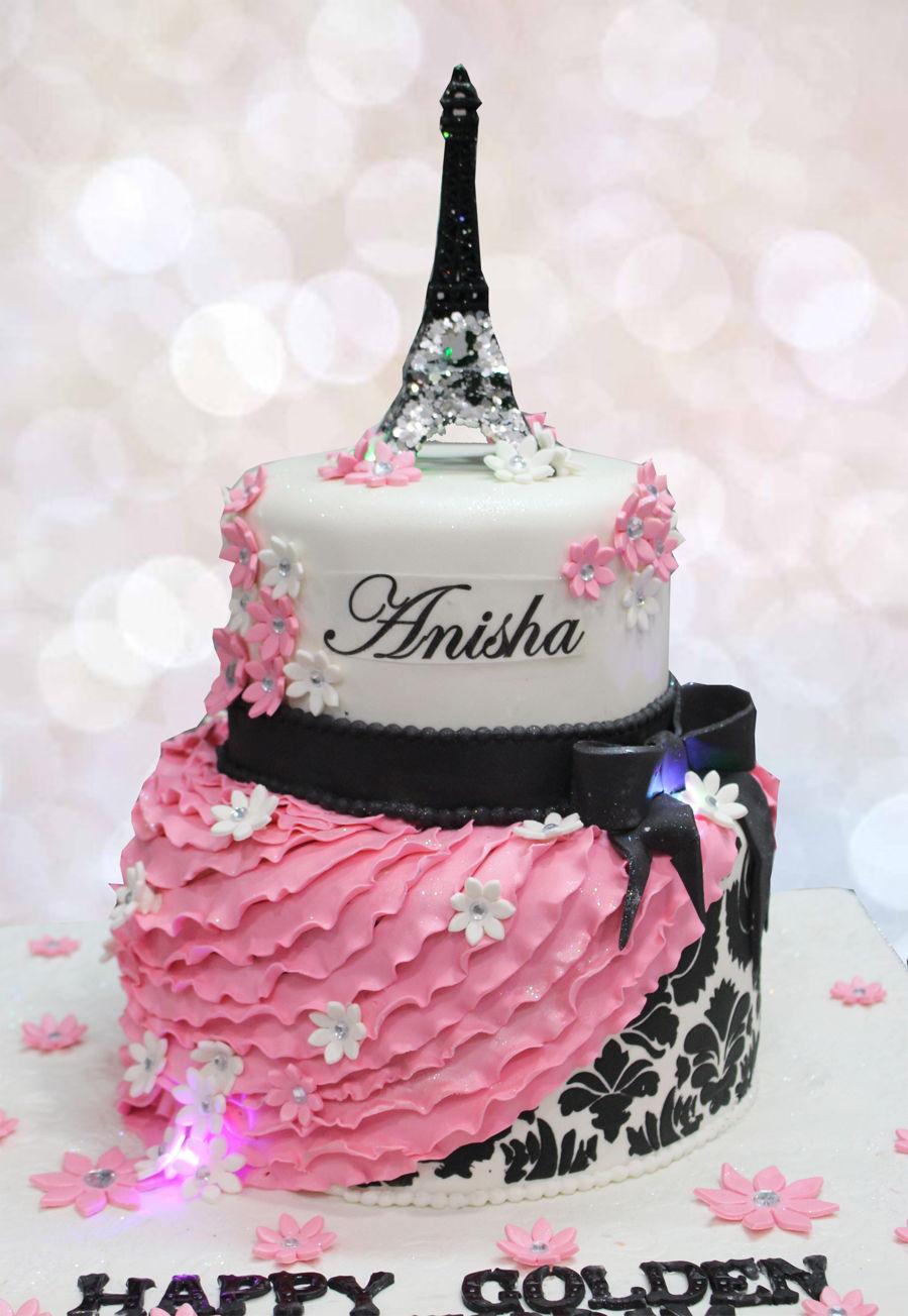 Happy Birthday Paris Cake