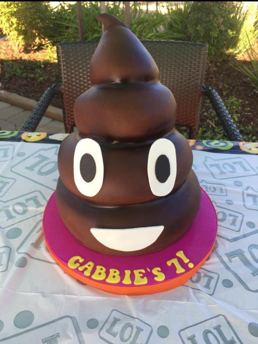 Emoji Poop Cake Cakecentral Com