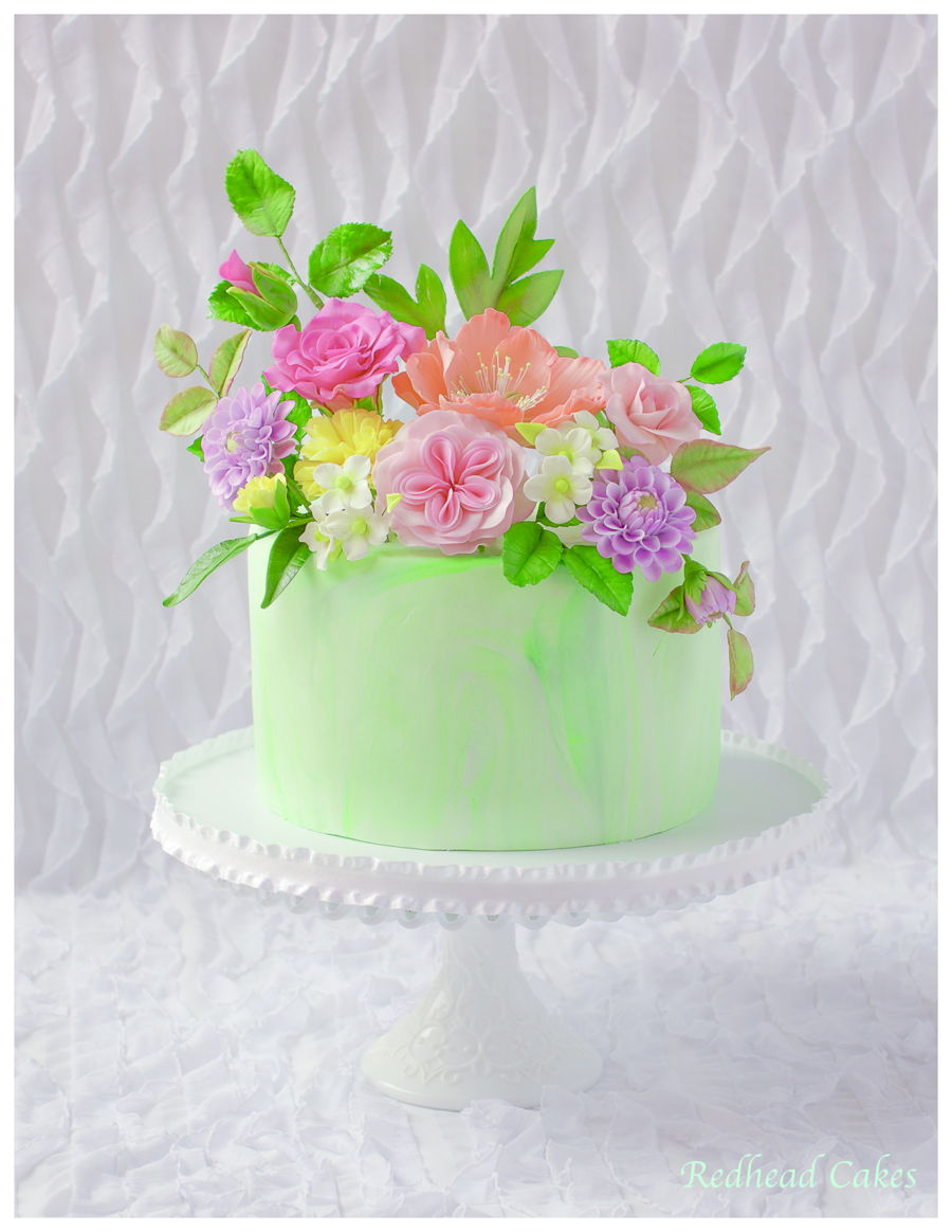 Astonishing Flower Cake For 70Th Birthday Cakecentral Com Birthday Cards Printable Opercafe Filternl