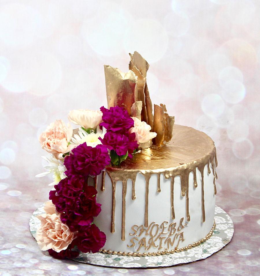 Gold Drip Cake Cakecentral Com