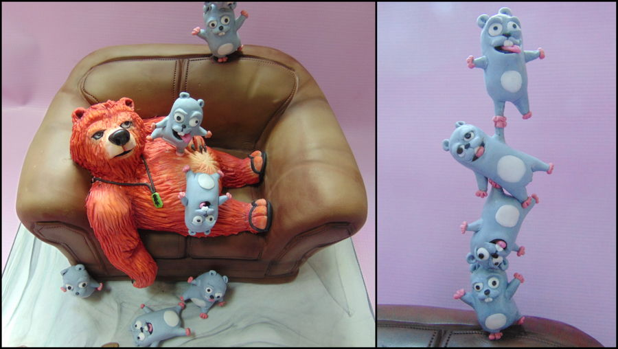 Grizzy And The Lemmings Cake Cakecentral Com