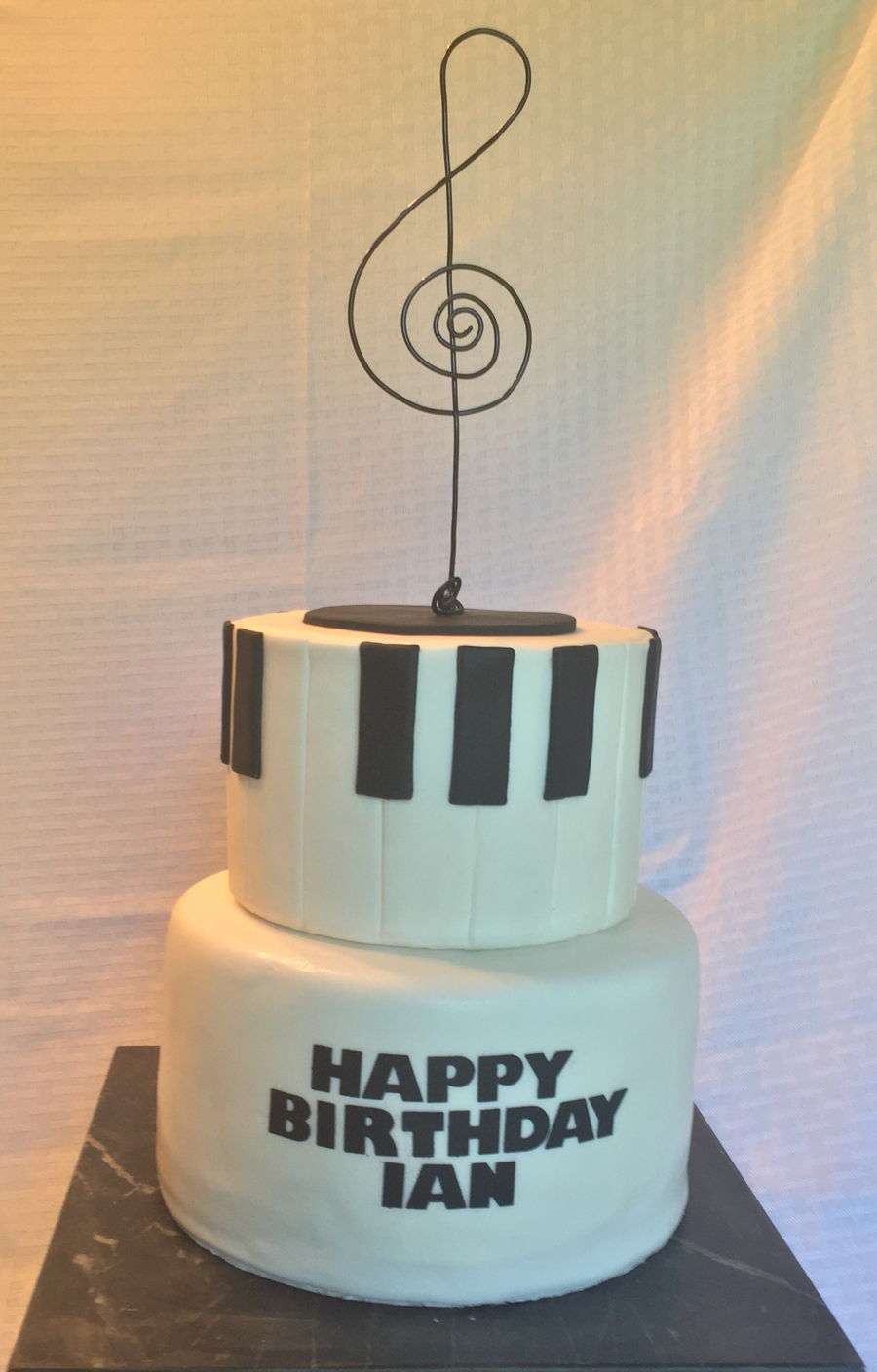 Happy Birthday Music Note Cake Cakecentral