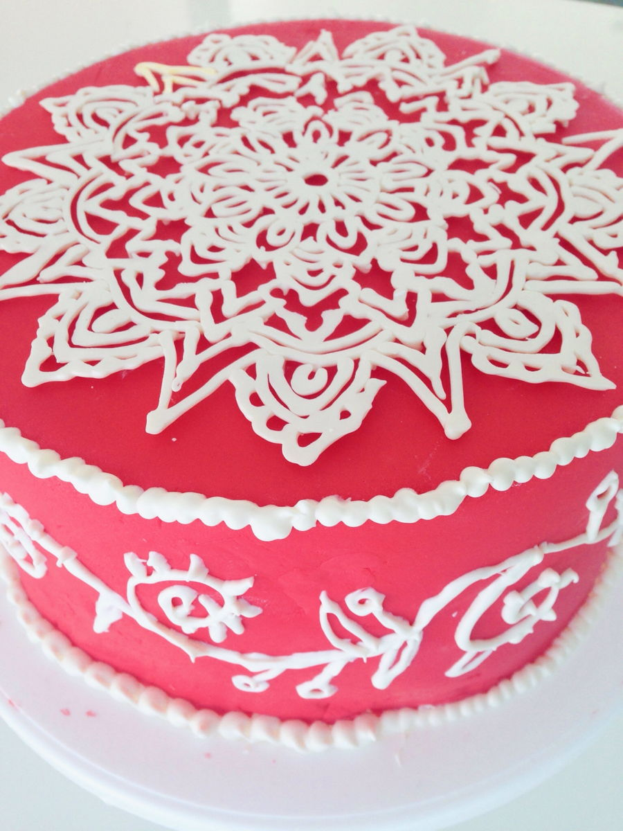 Mehndi Cake Recipe : Henna cake cakecentral