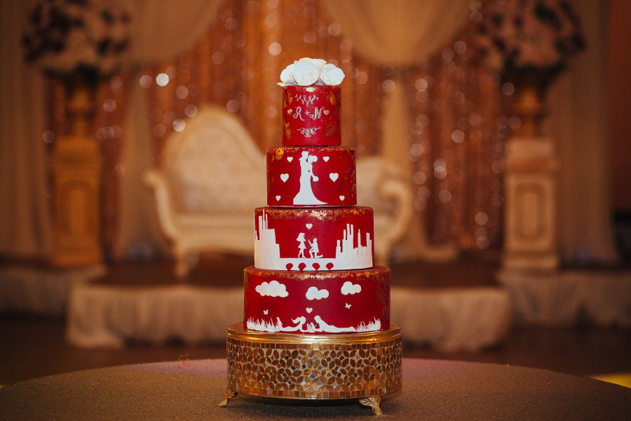 Love Story Wedding Cake on Cake Central