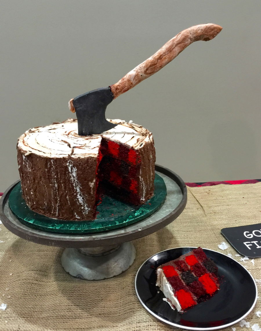 Lumberjack Cake For Retirement Party on Cake Central